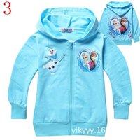 Cheap Baby Boys Girls Elsa Anna Princess Hoodie Long Sleeve Terry Hooded Jumper Cartoon Hoodies Outerwear Kids Jackets Clothing