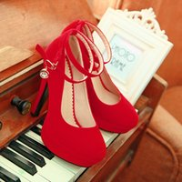 Red heels - new wedding shoes bridal shoes wedding shoes red high heeled women waterproof red high heels