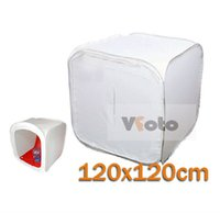 Wholesale 120cm quot large Softbox Light Tent Cube Photography tent Photo Studio Shooting Soft Box Color Backdrops With carrying bag