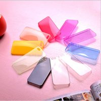 Wholesale Ultrathin Candy Color Case mm PC PP Clear Back cover for iphone quot inch Samsung S3 S4 S5 Note2 Note3 Note4