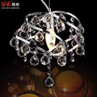 artistic crystals - Fashion K9 Crystal Pendant Light Dining Room Lighting E14 LED Chandeliers Artistic Indoor Lighting Hanging Lights Fixtures