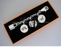 Wholesale Hot sale Silver Berloque Key Chain Nib by EMS