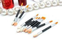 beauty end - Fashion Cosmetic Brushes Women Makeup Eyeshadow Eyeliner Sponge Lip Brush Set Applicator Beauty Double Ended Disposable