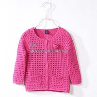 cotton children - Knitted Sweaters Girls Cardigan Spring Flower Sweater Coat Girl Dress Kids Sweaters Crochet Cardigan Children Clothes Kids Clothing L44324