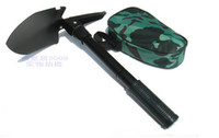Wholesale New Camping essential folding shovel Multifunction Spade shovel ho Saw Compass