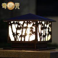 bamboo cast - Bamboo die cast aluminum wall lamp post lights garden lights retro square entrance lights wall lights W10715