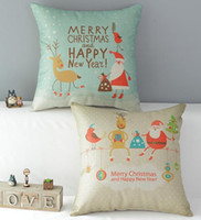 Wholesale Christmas a High Quality Linen Home Accesorries Soft Comfortable Pillow Cover Cushion Cover cmx45cm