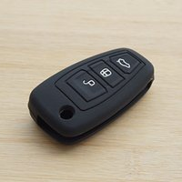 auto ford ranger - Black car key silicone case cover auto accessories for ford focus Fiesta Hatch Ranger Escape Fusion Kuga Transit