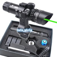 Wholesale Adjustable Green Dot Laser Rifle Scope Sight w mm Mount for Hunting Airsoft
