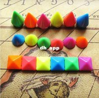 Cheap Min.$15(Mixed Order) Free Shipping Cell Phone Case Decoration 6 colors Plastic Rivet