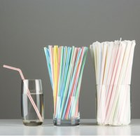 Wholesale In stock Multi Color Green Yellow Pink Blue white Plastic Drinking Straws Foldable Disposable Barware wedding accessories