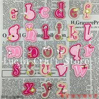 Wholesale Mixed Size Iron on or Sew on Cute Letter Embroidered Patch Sewing Accessories pc type H26