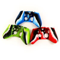 Cheap New Arrival Soft Silicone Camouflage Camo Protective Sleeve Case Cover Skin Cover for Xbox one Controller Red, Blue,Green Churchill