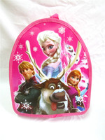 Wholesale New arrival Children School Bags Frozen Elsa Anna Backpacks Bag Fashion Princess Snow Queen Double Shoulder Baby Bags Christmas gifts free s