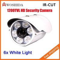 Wholesale 1200TVL Array White LED Outdoor Security Camera Night Vision CCTV Camera Waterproof Camera IR CUT Woshida