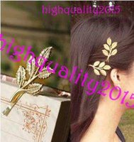 Wholesale Hot Sale Fashion Athena olive branch only beautiful bride hairpin clip