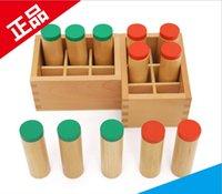 Cheap Montessori Teaching Sensorial Material Family Set Sound Box Education Tool Kindergarten Preschooler Professional edition Wooden kids Toy