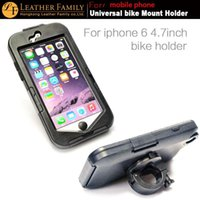 Wholesale for iphone quot bike Bicycle Mounts Holder Stand Tough Drop Protective case For iphone Mobile Phone black color free gift