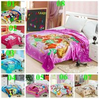 blankets - 2015 minions blanket color thomas mickey car blankets sofia kt Doraemon princess pooh bedding sheet kid spiderman blankets TOPB3164