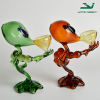 aliens pictures - Glass smoking accessory alien man glass pipe for smoking factory sale real picture free shippin