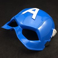 alliance helmet - Cosplay Captain America Mask Avengers Alliance Party Mask American Superhero Captain America Helmet Cosplay Kid Mask Halloween carnival Mask