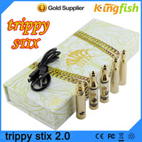 solid - high quality Gold Trippy Stix Kit IN e cigarette Kits for Wax Dry Herb Solid Oil with kinds of Wax Dry Herb Vaporizer pen e cig