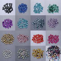 Wholesale Hot Hot flat acrylic mm flat back rhinestone bead process