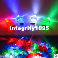 Wholesale Freeshipping Halloween Gift Finger Flashlights LED Finger Light Beams Ring Torch For Party M094