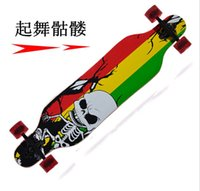 Wholesale 41 inches layer maple four adult professional road downhill longboard skateboard ship YW