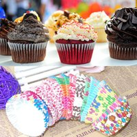 Wholesale 100 Cute Paper Cake Cup Liners Baking Cup Muffin Kitchen Greaseproof Paper Cupcake Cases