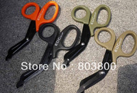 Wholesale Super tactical EMT scissors with saw tooth for emergency first aid etc
