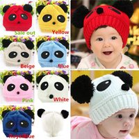 Wholesale New Arrivals Baby Girls Boys Children s Caps Beanie Stretchy Hat Warm Winter Woolen Lovely Panda PX249