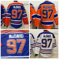 Wholesale 2016 Cheap Hockey Jerseys Edmonton Oliers Connor McDavid Jerseys Orange Blue White Lucic Orange Mix Orders