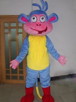 Wholesale Dora Friends Monkey Boots Mascot Costumes Halloween Mascot Dora The Explorer Mascot Cartoon Costumes Cartoon Fancy Dress