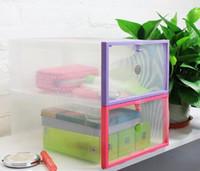 plastic drawer storage box - 2016 New Plastic Transparent Drawer Case Shoe Storage Organizer Stackable Box Storage Boxes Bins
