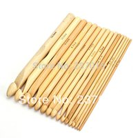 Wholesale New Arrival Sizes Set quot Bamboo Crochet Hooks Knitting Weave Needle Craft Tool mm