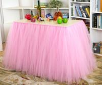 baby ballerina tutu - Tutu Tulle Table Skirt Princess Ballerina Fluffy Party Baby Shower Wedding Decorations