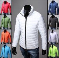 achat en gros de zip parkas d'hiver-Cheap Wholesale Design de mode Hommes hiver Slim Fit Full Zip-up coton Padding veste Parkas fabriqués en Chine