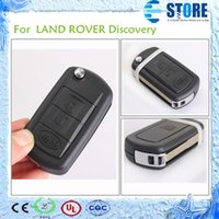 Wholesale 2 Buttons Remote Blank Key Shell for Land Rover Car Key Cover for Replacement Flip Folding Key Cover Packaged with PE bag DHL Free A