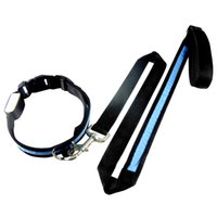 Wholesale LED Light up Dog Pet Night Safety Bright Flashing Adjustable Nylon Collar Leash