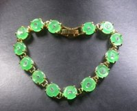 bangles chinese jade - gt gt gt Gold Plate CHINESE Icy Green JADE Circle Bead Beads Bangle Bracelet