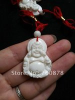 best mile - TBP475 Natural white Conch shell carved Simile Buddha amulets charms Tridacna Mile pendants x23mm best offer