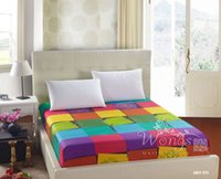 Wholesale Special Polyester Bed Sheets Simple Checks colors Design for Fashion Mattress Cover Home Textiles for sale