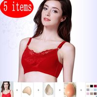 Wholesale Professional Post Mastectomy bras with one Prostheses Cotton Breast Pocket Bra For Mammary Cancer False Boob