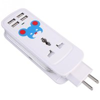 Wholesale 5in1 Mini Travel Swivel Charger Power Strips with Dual USB Ports A and Universal AC Outlets for iPad Cellphones or Laptop