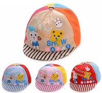 Cheap Newborn Baby Cap Head Cap Hat  Children Hat Baby Peaked Cap Cute Cow boy girl kids head wear Free Shipping