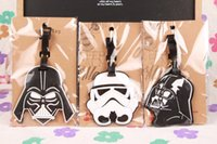 Wholesale lovely Star Wars Stormtrooper Black Knight PVC luggage tags Travel Name Tag