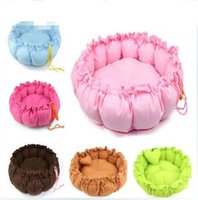 outdoor dog kennels - Cute Pet Puppy Dogs Soft Sleeping Bed House Winter Warm Fleece Beds Small Animals Dog Harness Costume