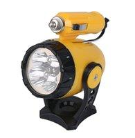 Wholesale New pc Yellow Flashlights Flexible Clip Emergency Car Lighting LED Work Light Lamp V W LED