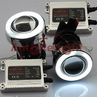 Wholesale Quality White CCFL Halo Ring W HID Ready Universal Fit Projector Fog Light Fog Lamp AutoRetrofit Slim Ballasts